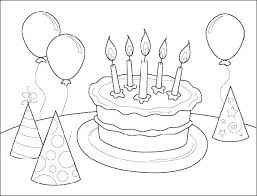 Happy Birthday Coloring Pages Ggluinfo