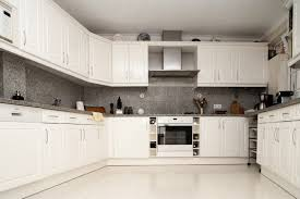 Interesting Modern Off White Kitchen A With Cupboards And Cabinetry Intended Concept Design