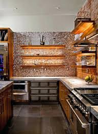 copper penny tile backsplash sparkling trend gorgeous kitchens with a  bright metallic glint house a striking