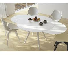 round extendable dining table throughout elan metallo extending dining table furniture idea 7