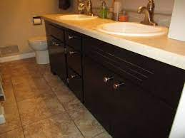 restaining bathroom cabinets you