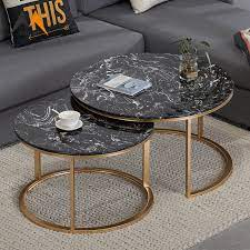 black marble coffee table sets