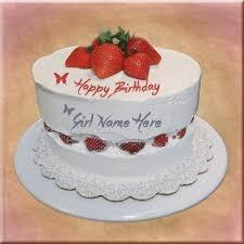 Nice Strawberry Birthday Cake Sister Name Birthdaycakeforgirltk