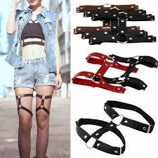 punk gothic y women girl harajuku pu leather garter belt leg ring harness 3 3 of 10