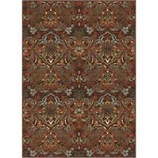kings court florence brown 3 ft x 5 ft traditional rustic area rug