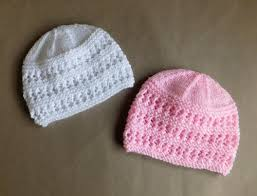 Knit Baby Hat Pattern Circular Needles Extraordinary Two Baby Hat Knitting Patterns AllFreeKnitting