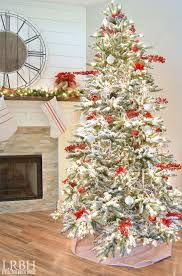 Flocked Christmas Tree 20 Gorgeous Christmas Trees Ella Claire