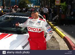 Raven-Symone Celebrity race practice session at the Toyota Grand ...