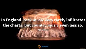 In England Rock Music Very Rarely Infiltrates The Charts