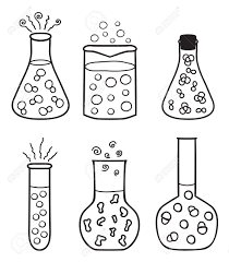 Set Of Chemical Test Tubes - Hand Drawn Illustration Royalty Free ...