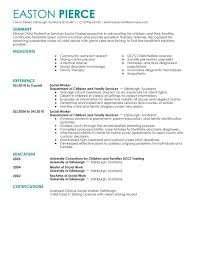 Social Work Resume Objective Examples Legacylendinggroup Com