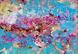 for vincent van gogh saatchi art artist andrey bogoslowsky painting abstract in blue purple pink