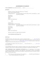 Basic Sublet Agreement Sublet Contract Ninjaturtletechrepairsco 2