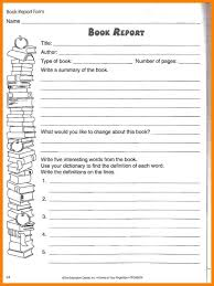 Book Report Template Grade 2 Awesome Book Report Template 5Th Grade ...