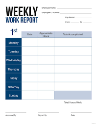 How To Write A Weekly Report Template 45 Sample Weekly Report Templates Word Pdf Free