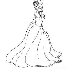 Princess Tiana Coloring Pages For Girls Free Printable Coloring