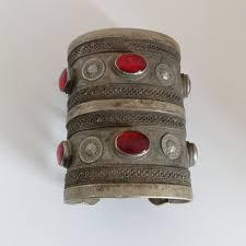 exquisite tall vine turkmen tribal bracelet cuff ethnic turkmenistan adornment central asian jewelry 3 4 tall 6 6 wrist size