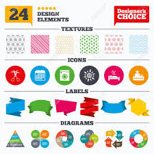 Washing Chart Banner Tags Stickers And Chart Graph Hotel Services Icons