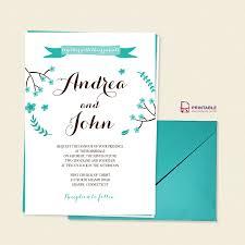 Easy Invitation Templates Free Pdf Template Floral Calligraphy Invitation Template