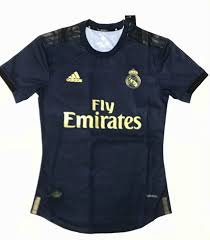 19 20 Season Real Madrid Away Blue Color Soccer Jersey Top