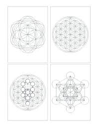 Crystal Grid Patterns Cool Seed Of Life Crystal Grid Template Templates Best Grids And Sacred