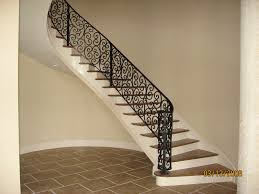 Wrought Iron Color Decor Tips Curved Staicaes And Wrought Iron Railing With Iron