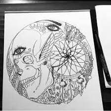 Pictures Of Dream Catchers To Draw Dream Catcher Drawing The Most Creative Line Drawings You'll Love 74