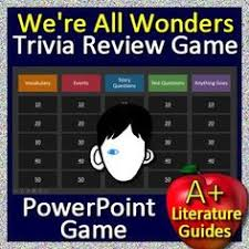 we re all wonders game learn about the book by playing a fun review game