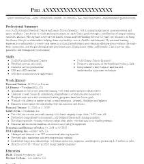 Personal Training Resume Examples Trainer Fitness Format Lovely