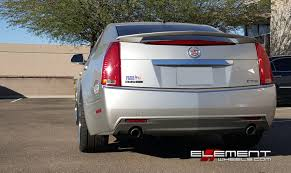 20 inch Staggered Rohana RC10 Silver Wheels On 2008 Cadillac CTS ...