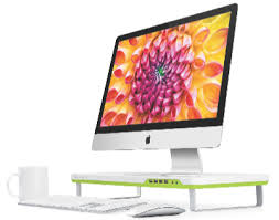 Flat Screen Display Stand Vroom Satechi F100 Smart Monitor Stand revs up your desktop but 41