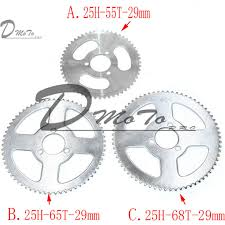 <b>55T 65T 68T 25H</b> 29mm Rear Sprocket Mini Moto ATV Quad Dirt Pit ...