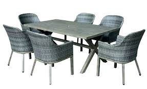 home depot wicker chairs crown view 7 piece two tone grey steel patio set with table patio tables home depot