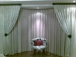 Window Curtain  Half Way Corner Window Curtain Or Bay Windows Bay Window Blind Ideas