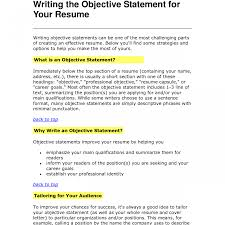 Example Of Good Objective Statement For Resume Outstanding Example Resume Objective Statements Template Statement 92