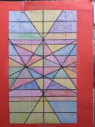 stained glass window graphing lines