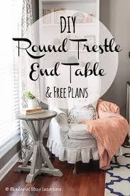 makeover monday round trestle end table free plans