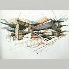 Exellent Architecture Design Sketches Sketch M For Decorating