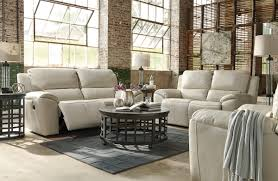 cream leather sofa love seat power recliners ca73500 47 74as