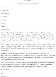 Mechanical Engineer Cover Letter Example Learnist Org