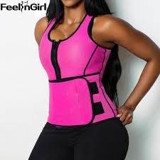 Feelingirl Neoprene Sauna Waist Trainer Vest E Workout