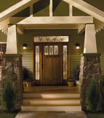 frosted glass front door with sidelights