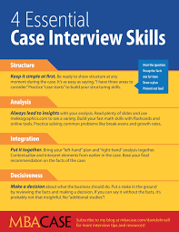 4 essential case interview skills mbacase essential case interview skills david ohrvall thumb