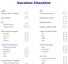 Vacation Checklist Composing Vacation Checklist Archives Blue Layouts