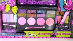 pink fizz lulus ultimate makeup palette glitter eyeshadow lip gloss blush beauty review vidéo dailymotion