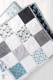 Baby Quilt Pattern Delectable Color Blocked Patchwork Baby Quilt Tutorial A Free Quilt Pattern