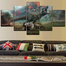 cuadros wall artwork portray 5 panel canvas print film jurassic world fallen kingdom poster fashionable house on house wall art painting with cuadros wall artwork portray 5 panel canvas print film jurassic
