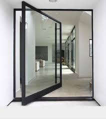 Exceptional Grand Front Double Doors Custom Modern Aluminum Glass Pivot Entry Door Front  Double