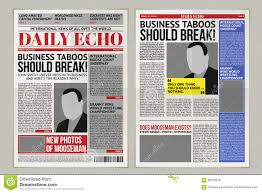Where Can I Find A Newspaper Template Vector Daily Newspaper Template Tabloid Layout Posting Reportage