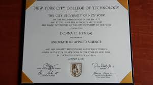 new york city college of technology diploma donna hemraj s  new york city college of technology diploma